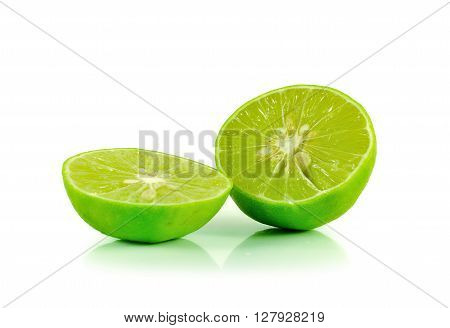 lime close up isolated on white background