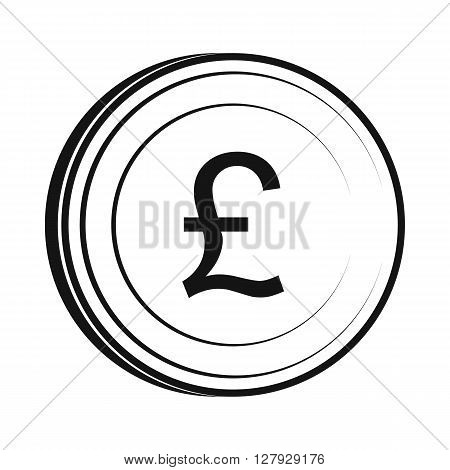 Money pound icon in simple style isolated on white background