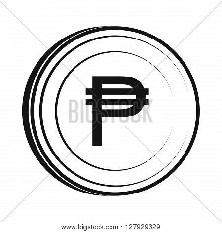 Peso icon in simple style isolated on white background