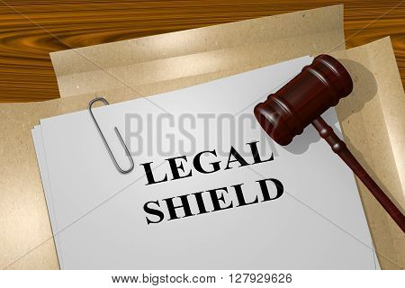 Legal Shield Legal Concept