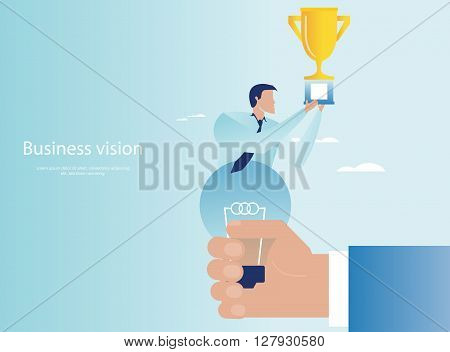Vector illustration of creative business triumphs concept