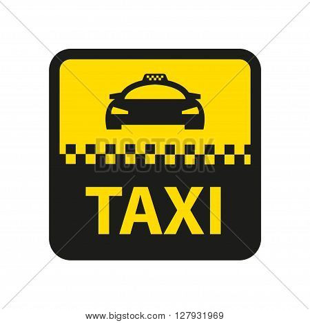 Vector taxi icon. Taxi car sign. Public transport symbol.