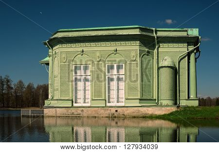 Pavilion of Venus in Gatchina park on the shores of White Lake