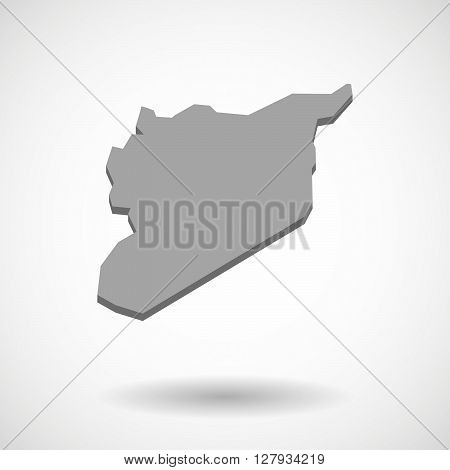 Illustration of the vector  map of Syria