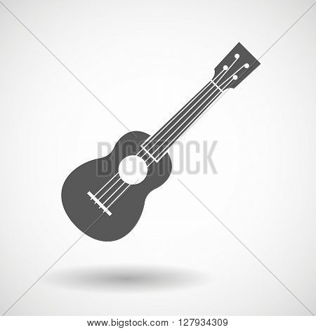 Illustration of an isolated vector  ukulele icon