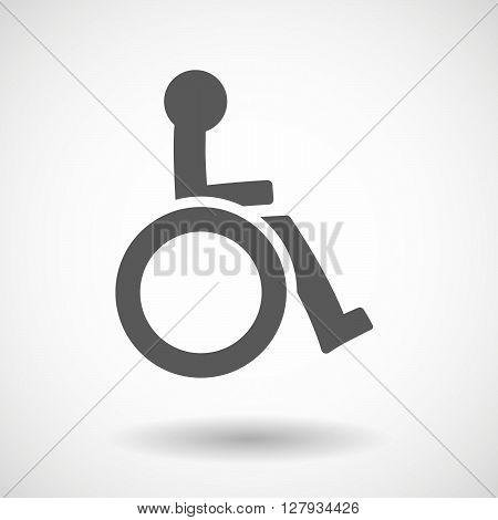 Isolated Vector Illustration Of  A Human Figure In A Wheelchair Icon