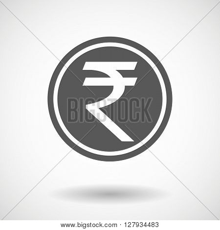 Isolated Vector Illustration Of  A Rupee Coin Icon