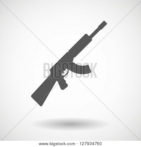 Isolated Vector Illustration Of  A Machine Gun Sign