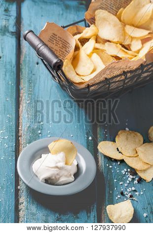 Potato Chips With Sauce