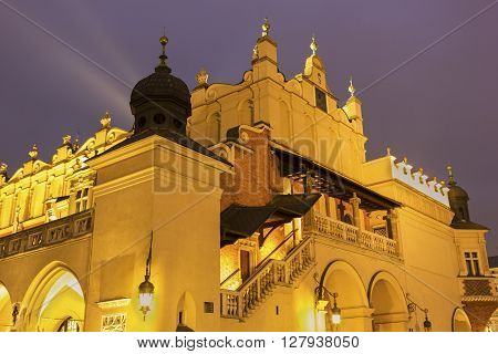 View on Town Hall in Cracow in Poland