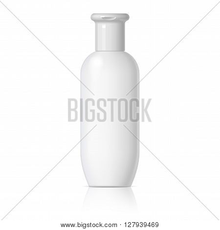 Cosmetic products on a white background. Cosmetic package for cream soups foams shampoo Spray Deodorant. vector illustration.