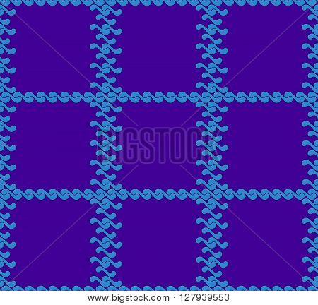 seamless pattern with waves yin yang blue and purple checkerboard colors JPEG