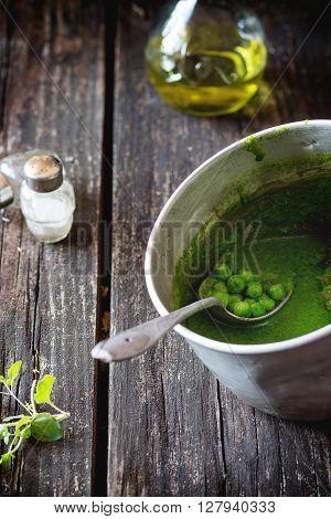 Cream Soup Of Green Peas