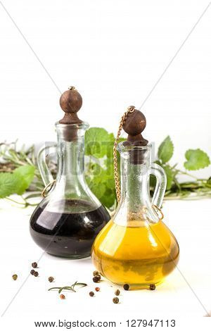 Olive Oil And Vinegar With Herbs