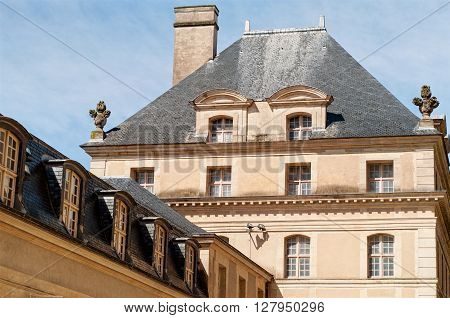 Roof of the National Residence of Invalids in Paris. France