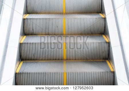 Close Up Escalators Stairway To Transport People