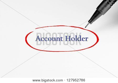 Account Holder On White Paper - Business Concept
