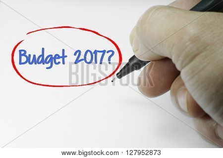 Budget 2017 Text On White Paper