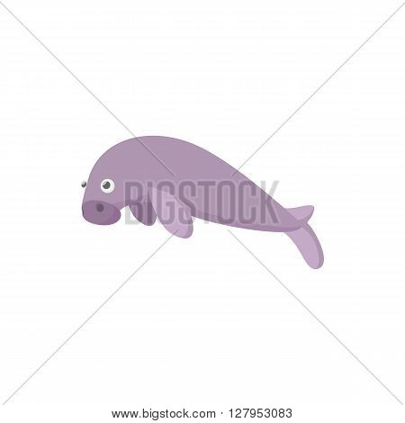 Sea calf icon in cartoon style on a white background
