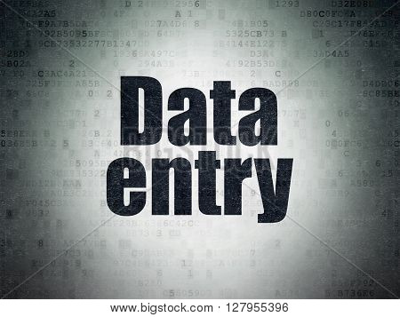 Information concept: Painted black word Data Entry on Digital Data Paper background