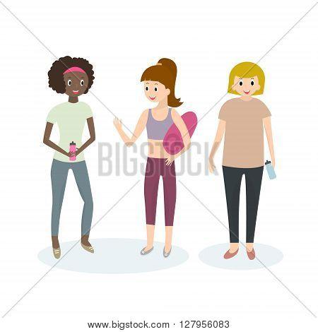 Women sport activities. Fit young woman in sportswear