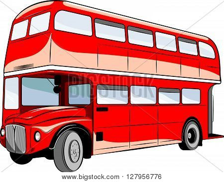 Traditional bus double decker of united kinkdom.