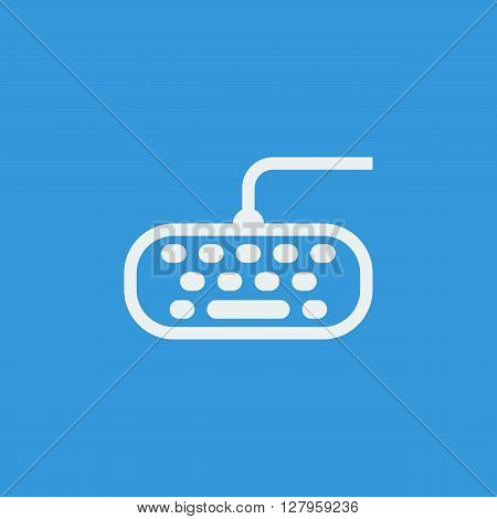 Keyboard Icon In Vector Format. Premium Quality Keyboard Symbol. Web Graphic Keyboard Sign On Blue B