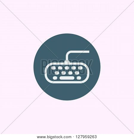 Keyboard Icon In Vector Format. Premium Quality Keyboard Symbol. Web Graphic Keyboard Sign On Blue C