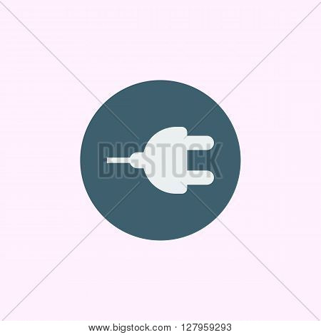 Plug Icon In Vector Format. Premium Quality Plug Symbol. Web Graphic Plug Sign On Blue Circle Backgr