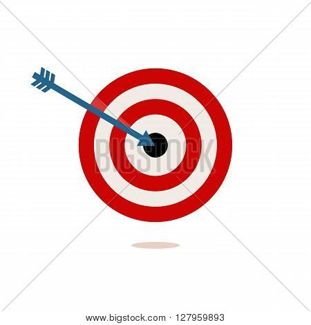 red and white target on a white background. vector illustration
