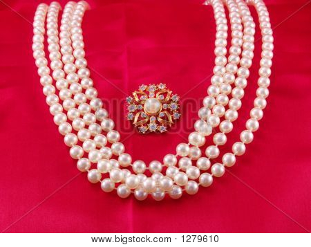 Pearl Strands And Pin