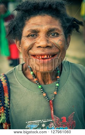 Smiling Woman With Beads