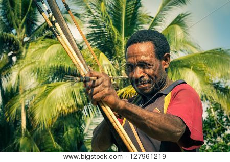 Man In Papua New Guinea
