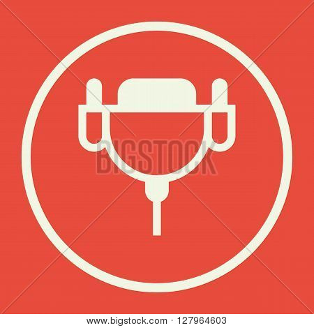 Dvi Cable Icon In Vector Format. Premium Quality Dvi Cable Symbol. Web Graphic Dvi Cable Sign On Red
