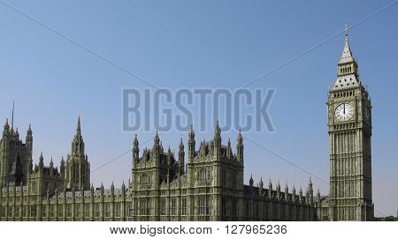 The Houses of Parliament in London, uk