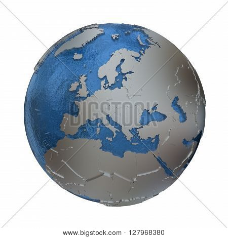 Europe On Silver Earth