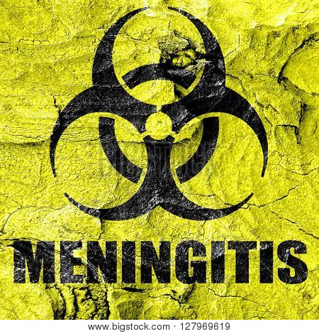 Meningitis virus concept background