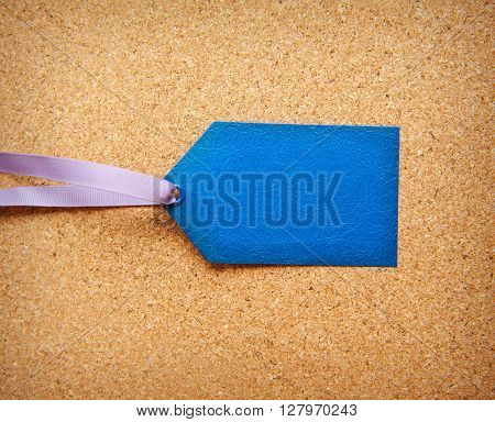 blue tag with space for text for web