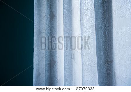 White Silk Fabric For Drapery Background with place for text