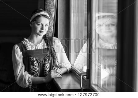 Beautiful Woman Portrait In Russian Style