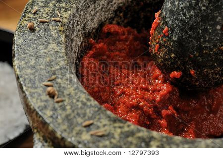 Harissa chili paste