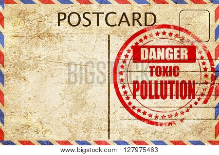 Pollution waste sign