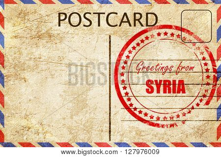 Greetings from syria