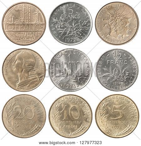 Full Set Of French Francs