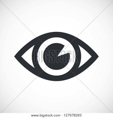 Simple Eye Icon. Isolated eye icon on white background