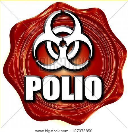 Polio concept background