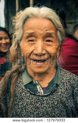 Smiling Woman At Aoleang