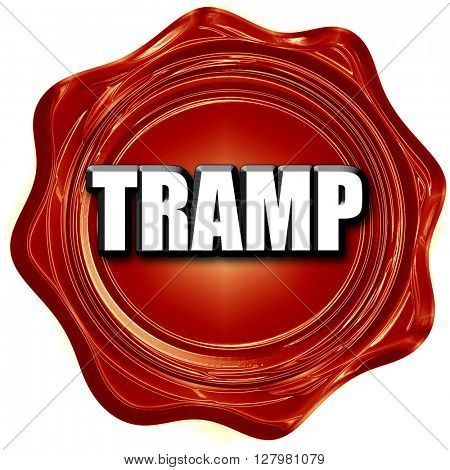 tramp sign background