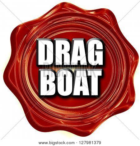drag boat sign