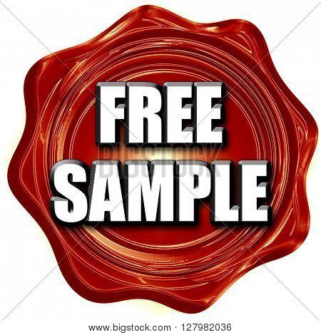 free sample sign
